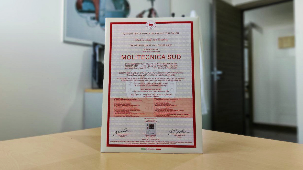 Molitecnica Sud Made in Italy 100%